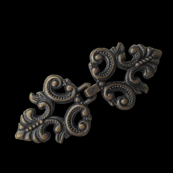 Sehr dekorativer altmessingfb. Metall Zier Verschluss