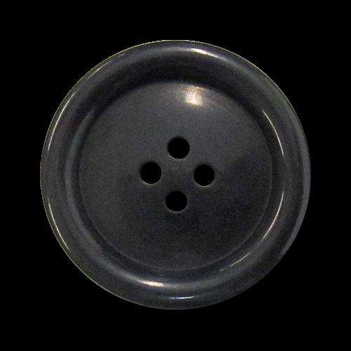 www.Knopfparadies.de - 0464sc - Sehr große Kunststoffknöpfe in Schwarz mit vier Knopflöchern