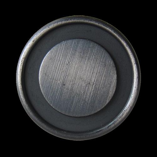 www.Knopfparadies.de - 1537ei - Ausgefallene eisenfarbene Metallknöpfe mit Öse