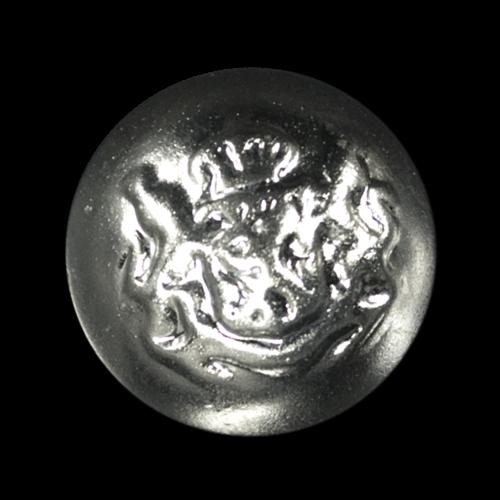 Silberfarbene leichte Halbkugel Knöpfe mit Wappen