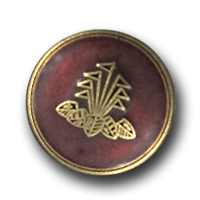 Hübsche Blazerknöpfe mit Wappen in messing / matt rot