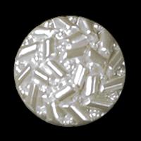 Weißer Knopf wie aus Glas