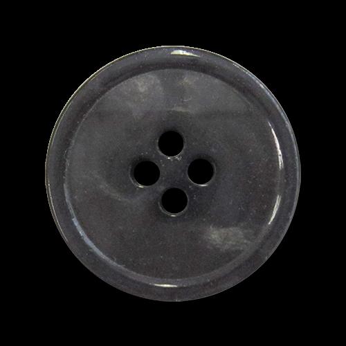 www.knopfparadies.de - 4278an - Dunkelgrau schimmernde Kunststoffknöpfe mit 4 Löchern