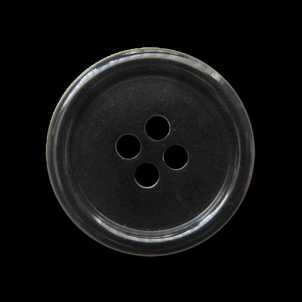 Schwarzer Basic Vierloch Knopf zum kleinen Preis