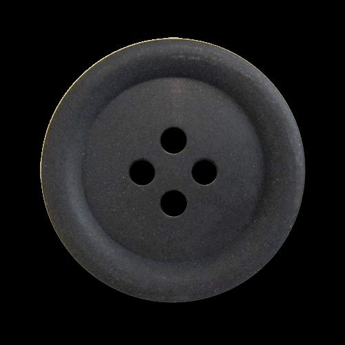 www.Knopfparadies.de - 1698sc - Klassische Vierlochknöpfe aus Kunststoff in Schwarz / B-Ware