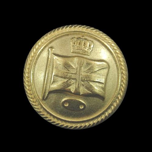Interessente goldfarbene Uniformknöpfe