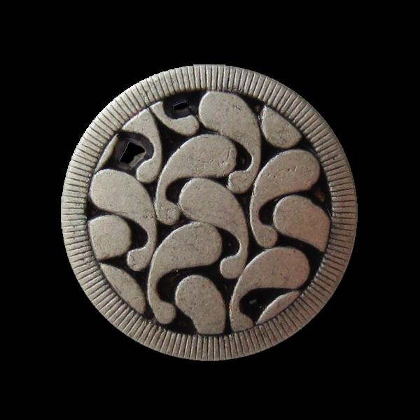 Toller Metall Ösen Knopf mit Paisley Durchbruch Muster