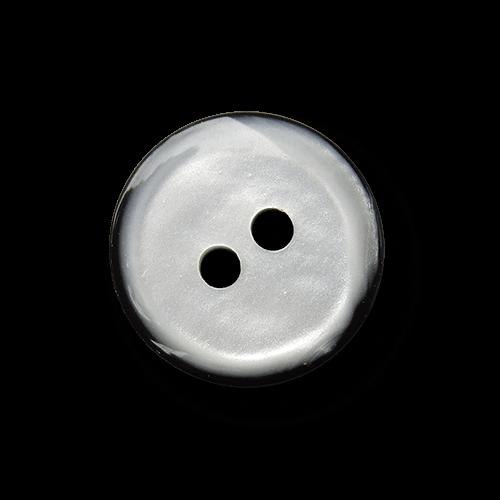 Weiß grau schwarzer Blusen Knopf in Perlmutt Optik