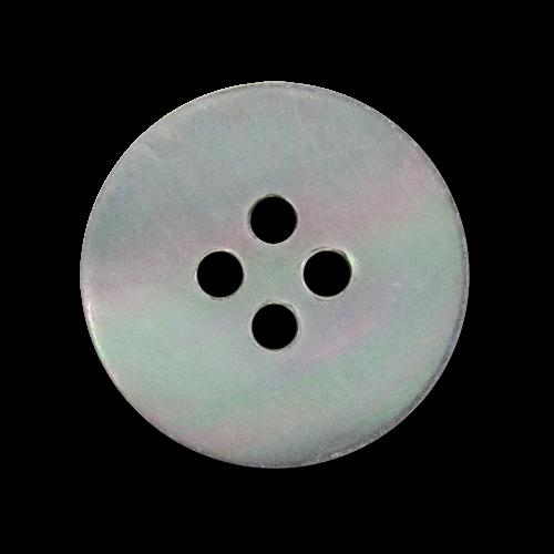www.knopfparadies.de - 4021gr - Blau-grau schimmernde Perlmuttknöpfe