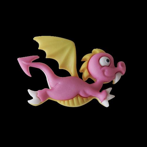 www.knopfparadies.de - 1511dr - Zuckersüsse Kinderknöpfe: fliegender Drache