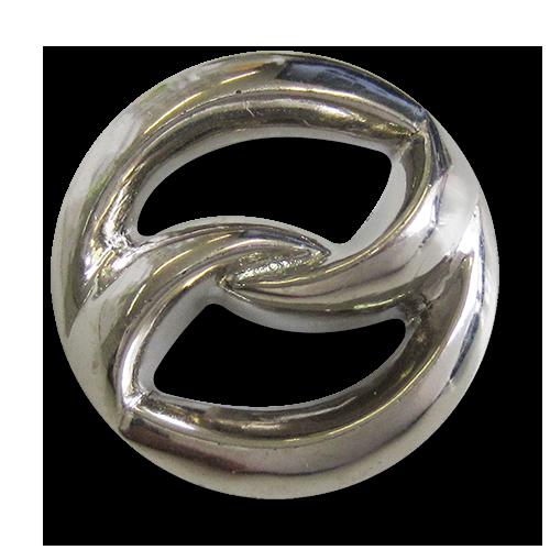 Gro E Metallic Silberne Kn Pfe Aus Kunststoff Knopfparadies