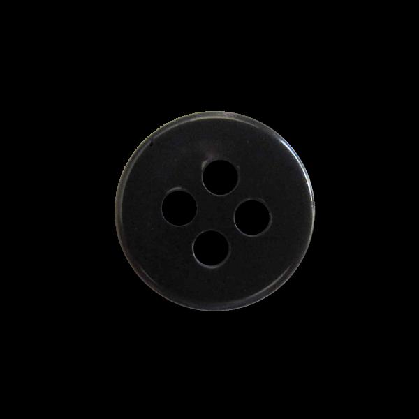 Kleine schwarz blaue Vierloch Kunststoff Knöpfe