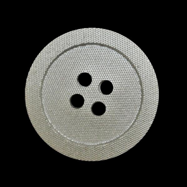 Moderner metallic silberfb. Vierloch Kunststoff Knopf
