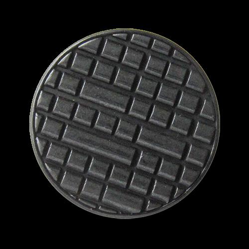 www.Knopfparadies.de - 3080sc - Moderne Designerknöpfe aus Metall in Schwarz