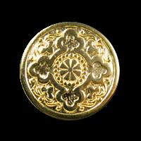 Interessante goldfarbene Larp Metallknöpfe