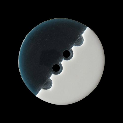 Blau weiße Zweiloch Kunststoff Knöpfe