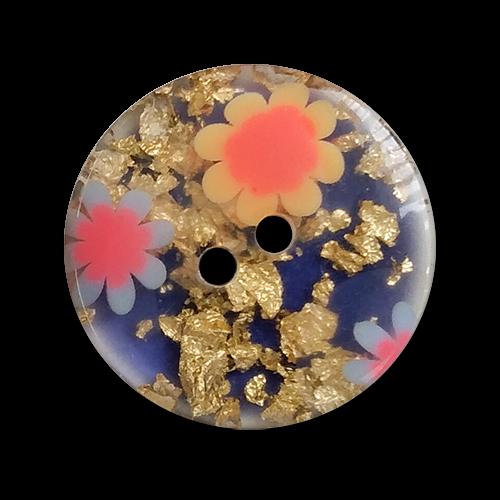 www.knopgparadies.de - 5324bg - Ausgefallene Designerknöpfe in blau-gold