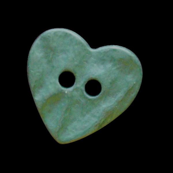 Dunkelgrüner Herzknopf