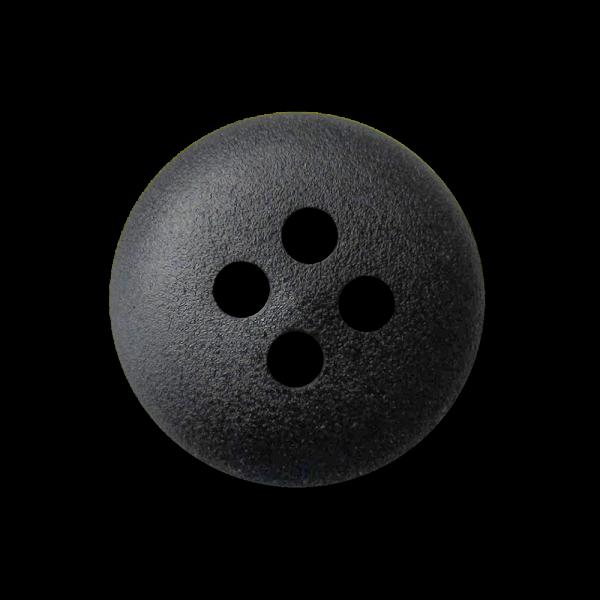 Kleiner schwarzer Kunststoff Knopf mit vier Knopflöcher