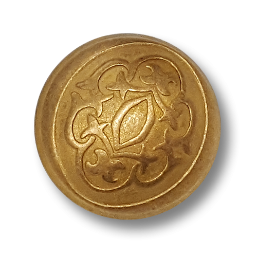 Gewölbter Metallknopf in edlem Design (0595gk)