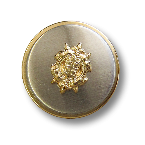 Edle Blazerknöpfe mit Wappen in Bicolor: gold/silber