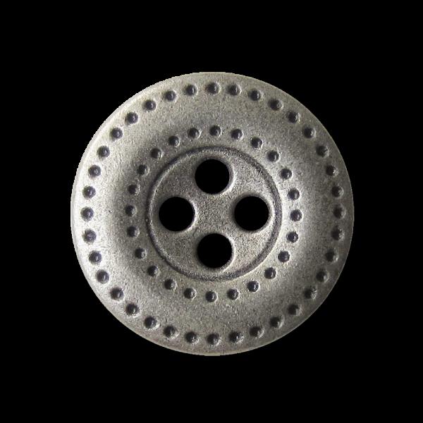Attraktiver Vierloch Metall Knopf mit Loch Muster