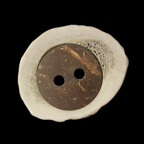 www.knopfparadies.de - 2575hh - Ausgefallene Trachtenknöpfe aus Hirschhorn in interessantem Materialmix