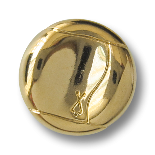 www.knopfparadies.de - Goldfarbene Metallknöpfe mit Golfmotiv
