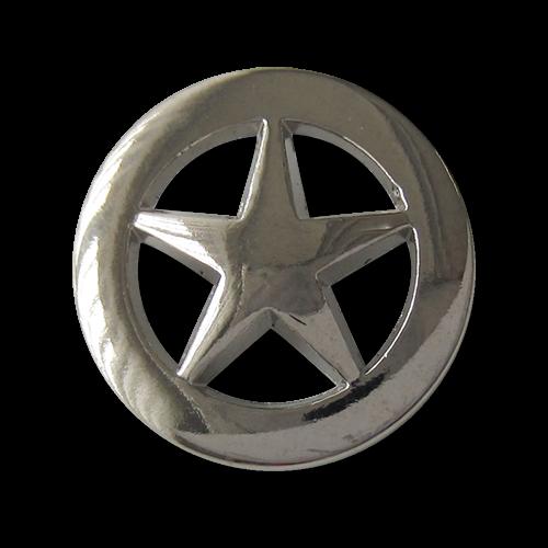 Tolle Metallknöpfe mit Stern als Motiv / Durchbruchmuster. Ideale Jeansknöpfe.