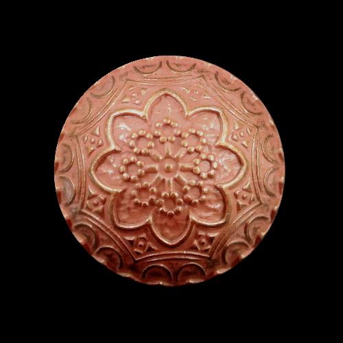 Nostalgisch verzierter gold rosafarbener Halbkugelknopf