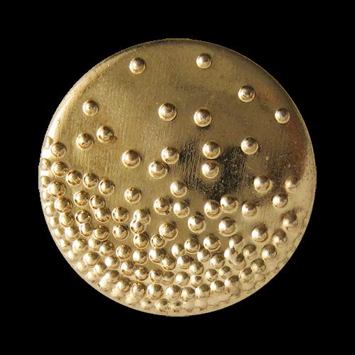 www.Knopfparadies.de - 1636go - Originelle goldene Metallblechknöpfe mit Punkt Muster