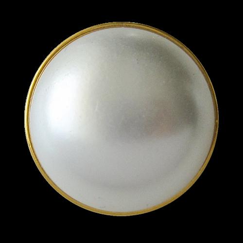 www.Knopfparadies.de - 1460pg - Exklusive Metallknöpfe mit riesiger Perle aus Kunststoff