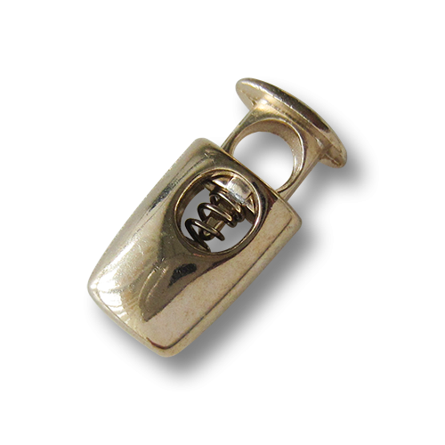 www.knopfparadies.de - 5857go.- kleine Kordelstopper aus Metall in gold