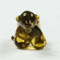 Niedlicher winziger Braunbär aus Glas