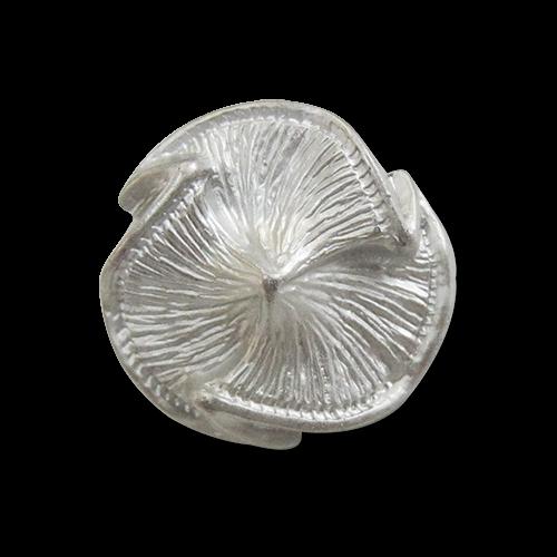 www.Knopfparadies.de - r295sm - Extravagante Ösenknöpfe in silberner Metalloptik