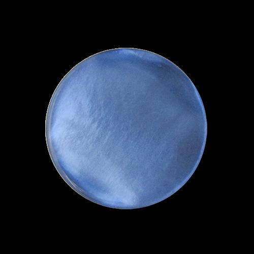 www.knopfparadies.de - 5747kb - Blau schimmernde Blusenknöpfe in Perlmuttoptik