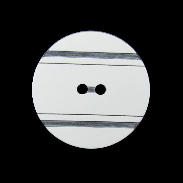 Cremeweiß schwarzer Designer Knopf mit Pariser Chic