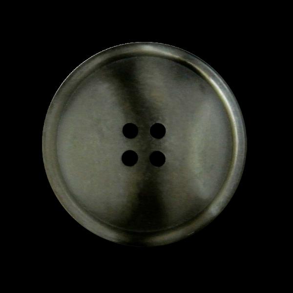 Großer matt grau braun perlmuttartiger Mantel Knopf