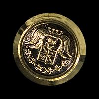 3951gs/6x - Set mit 6 altgoldfarbenen Wappenknöpfen