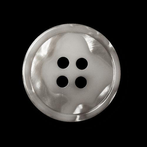 Ausgefallener silber grauer Knopf m. Perlmuttschimmer