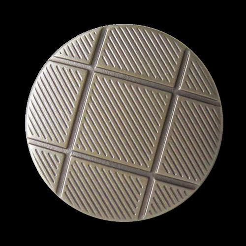 www.knopfparadies.de - 1630bi - Metallknöpfe in bicolor mit grafischem Muster