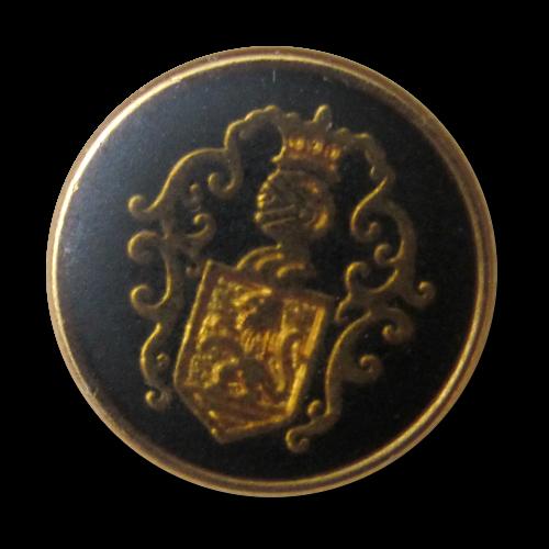 Klassischer schwarz goldfb. Wappen Knopf für Blazer