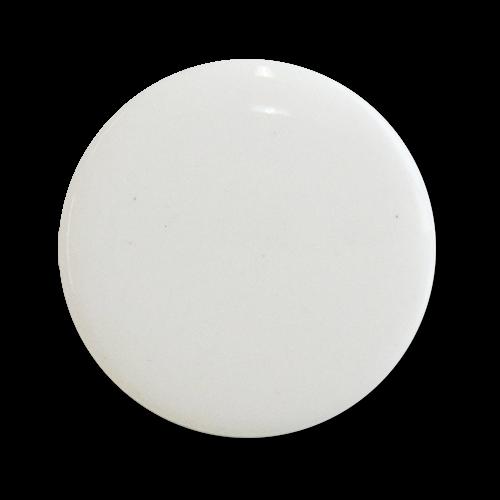 www.Knopfparadies.de - z505we - Große weiße Ösenknöpfe aus Kunststoff mit leichten Mängeln