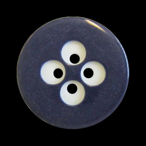 www.knopfparadies.de - 0662bl - Verrückte Kunststoffknöpfe in dunkelblau und weiß