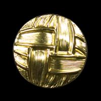Goldfarbene Ösenknöpfe mit Flechtmuster