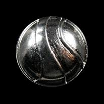 Chromfb. Metall Knopf mit asymmetrischem Muster