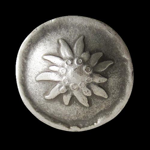 www.Knopfparadies.de - 0355as - Silberne Trachtenknöpfe mit Edelweiß