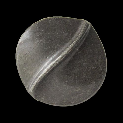 ww.Knopfparadies.de - 0216ei - Unrunde Ösenknöpfe aus Metall in Matt Eisen wie aus dem Mittelalter