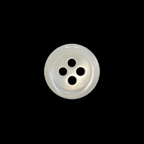 www.knopfparadies.de - 6002pm - Weiß schimmernde Blusenknöpfe aus echtem Perlmutt