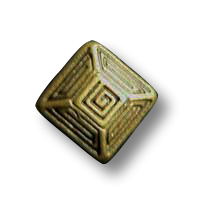 Altmessingfarbene quadratische Knöpfe